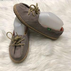 Sanuk Mochi Lace-Up Jute Shoes Women's US 8 Eu 39